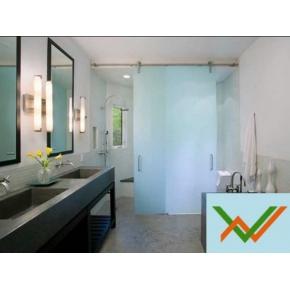 Phòng tắm kính mờ